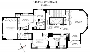 140 East 72nd Floorplan