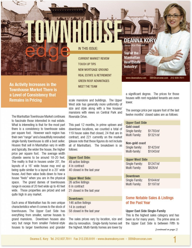 Deanna Kory Townhouse Newsletter