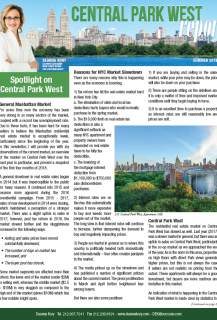 Central Park West Report Summer 2018