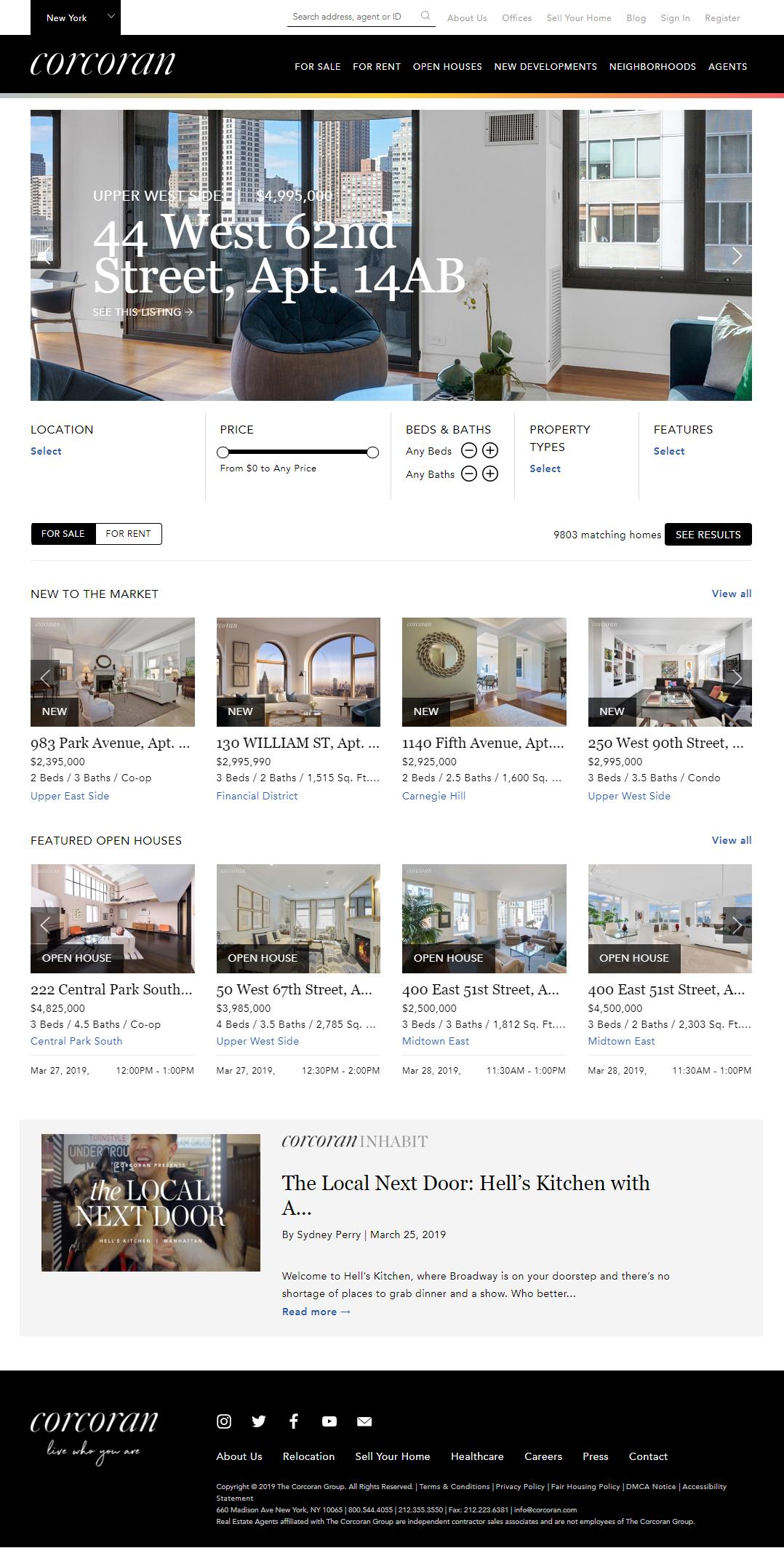 Corcoran.com Hompage