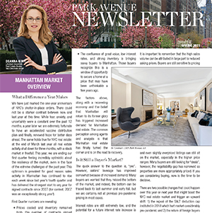 Park Avenue Newsletter Spring 2021