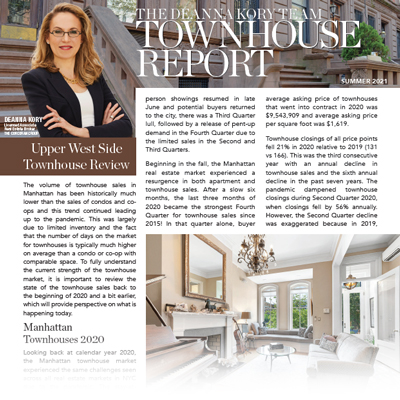 Upper West Side Townhouse Report